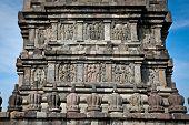 Stone craft in Prambanan temple near to Yogyakarta on Java, Indonesia.
