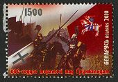 BELARUS - CIRCA 2010: A stamp printed in Belarus dedicated to Battle of Grunwald 600th anniversary,