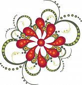 Flower Decorative Vector Ornament