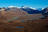 image of denali national park  - Polychrome Pass in Alaska - JPG