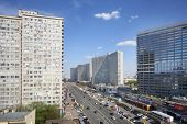 MOSCOW - MAY 10: Buildings at New Arbat Street, on May 10, 2013 in Moscow, Russia. Highway, called t