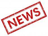 News Square Red Grunge Stamp