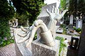 Prague. Vysehrad cemetery