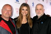 LOS ANGELES - OCT 24:  Michael Chiklis, Maria Menounos, Chuck Saftler at the Blue Jean Ball benefiti
