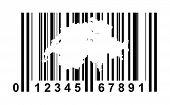Switzerland shopping bar code isolated on white background.