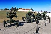 Cuba. Havana. Fortress Morro- Cabana. The exhibition of the Soviet weapon devoted to memory of the C