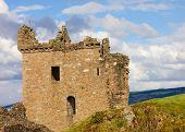 Urquhart Castle on Loch Ness shore