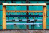 Industrial Equipment At Shipyard