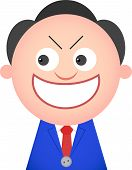 pic of sneaky  - Vector cartoon of funny businessman is sneaky - JPG