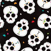 Dead body - Mexican D�?�­a de los Muertos halloween skull and skeleton illustration design in vector