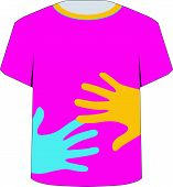 T Shirt Template- Pop art graphic