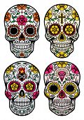 foto of sugar skulls  - fully editable vector illustration  - JPG