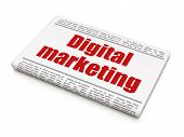 Advertising news concept: newspaper headline Digital Marketing
