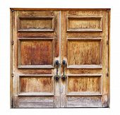 Vintage Wooden Doors on a White Background