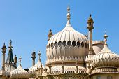 Domes of Royal Pavilion in Brighton, England