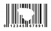 Lithuania shopping bar code isolated on white background.