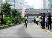 Jakarta - October 27, 2013 Diana Chepkemoi Sigei Kenya Female Runner Win 2nd Place at Jakarta Marath