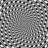 stock photo of distortion  - Design monochrome spiral circular movement illusion background - JPG