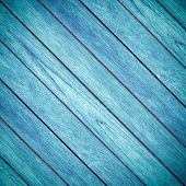 Old Blue Wooden Background And Crosswise