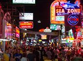 Walking Street in Pattaya at night