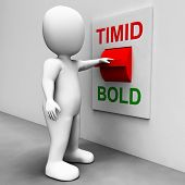 Timid Bold Switch Means Fear Or Courage