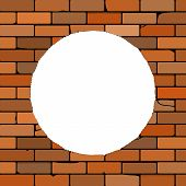 Brick Wall With A Hole