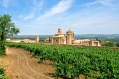 Monastery Of Santa Maria De Poblet And Vineyards