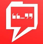 Speech Bubble With Red Color Background