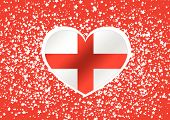 map of England flag Decorative idea design