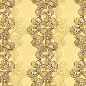 Seamless abstract marine lace beige background