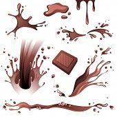 Chocolate splashes set