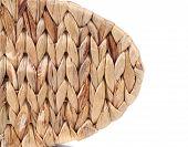 Wicker Basket texture. Close up.