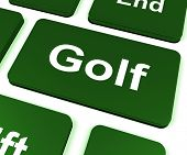 stock photo of miniature golf  - Golf Key Meaning Golfer Club Or Golfing - JPG