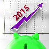 Graph 2015 Shows Financial Forecast Projecting Growth