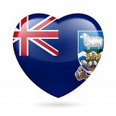 foto of falklands  - I love Falkland Islands - JPG