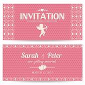 Valentine day romantic invitation card