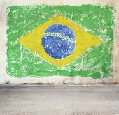 Brazil flag on the wall