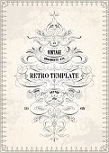Vector ornate frame and ornament template. All pieces are separated, and easy to edit. Great for inv