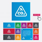 picture of carbon-dioxide  - CO2 carbon dioxide formula sign icon - JPG