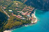 View From Parachute On Hotel Fethiye, Turkey.