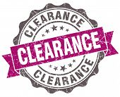 Clearance Violet Grunge Retro Vintage Isolated Seal