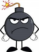 Angry Bomb Cartoon Character