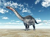 pic of apatosaurus  - Computer generated 3D illustration with the Dinosaur Apatosaurus - JPG