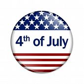 4Th Of July Button