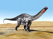 picture of apatosaurus  - Computer generated 3D illustration with the Dinosaur Apatosaurus - JPG