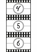 Film countdown numbers part 2