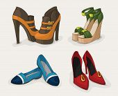 stock photo of flat-foot  - Fashion woman - JPG