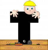 Alphabet Construction Worker T