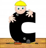 Alphabet Construction Worker C