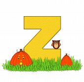 Alphabet Pumpkin Patch Z